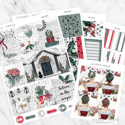 FOIL WEEKLY PLANNER STICKER KIT - BELIEVE - STICKERS