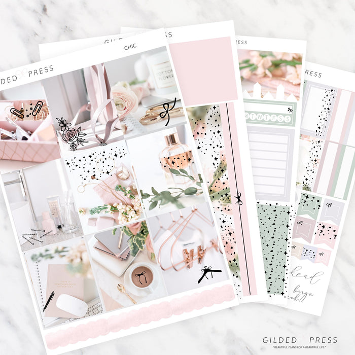 CHIC | FOIL WEEKLY PLANNER STICKER KIT - STICKERS