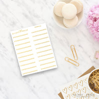 Foil Decorative Divider Planner Stickers - V.2 - Gilded Press Studio