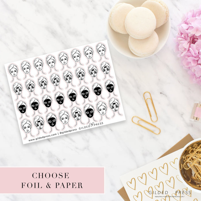 FACE MASK FOIL STICKERS - STICKERS