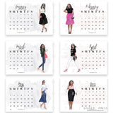 (PRINTABLE) 2020 Illustrated Desktop Fashion Calendar - VELLUM & ACETATE