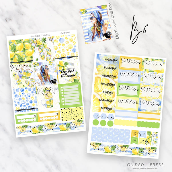 LEMONADE | FOIL B6 PLANNER STICKER KIT
