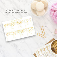 Foil Overlay Planner Stickers - Party - Gilded Press Studio