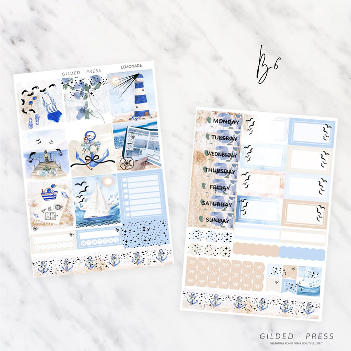 SAIL AWAY | FOIL B6 PLANNER STICKER KIT