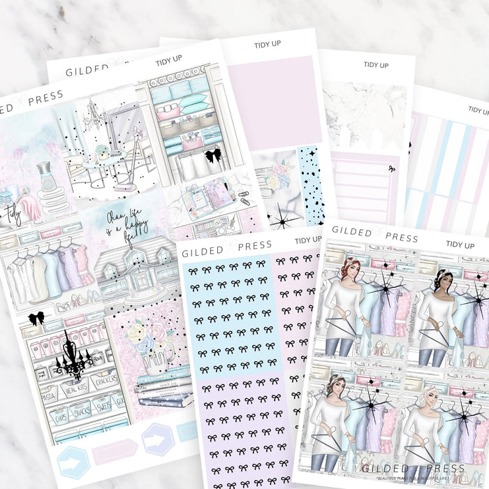 FOIL WEEKLY PLANNER STICKER KIT - TIDY UP - STICKERS