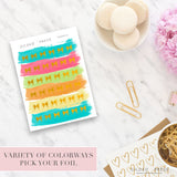 Foil Bow Planner Stickers - Gilded Press Studio