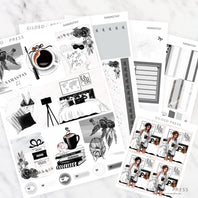 FOIL WEEKLY PLANNER STICKER KIT - NAMASTAY - STICKERS