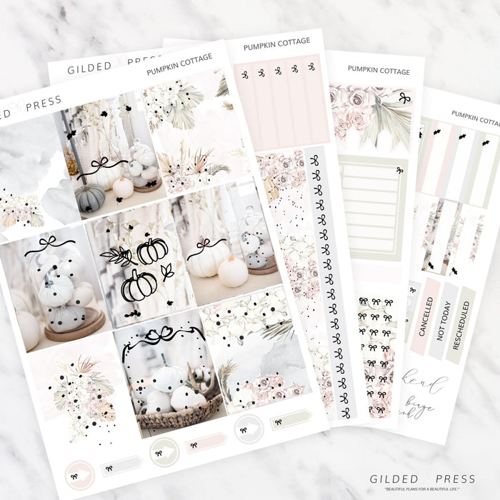 FOIL WEEKLY PLANNER STICKER KIT - PUMPKIN COTTAGE - STICKERS