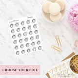 Foil Planner Stickers - Basketball Planner Stickers - STICKERS