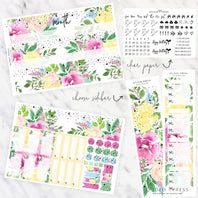 FOIL MONTHLY PLANNER STICKER KIT - BOHEMIAN SUMMER