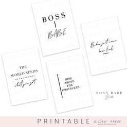 (PRINTABLE) Boss Babe Dashboards - Gilded Press Studio