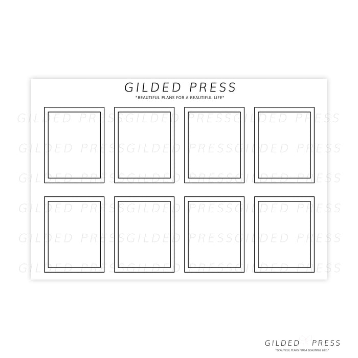 Foil Overlay Planner Stickers - Boxes - Gilded Press Studio