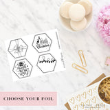 Foil Planner Stickers - Christmas Hexagon Covers - STICKERS