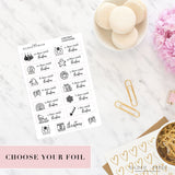 Foil Planner Stickers - 12 Days of Christmas Countdown - STICKERS
