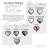 Foil Overlay Planner Stickers - Bows - Gilded Press Studio