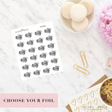 Foil Planner Stickers - Football Planner Stickers - STICKERS