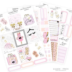 FOIL WEEKLY PLANNER STICKER KIT - SAMANTHA - Gilded Press Studio