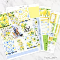 LEMONADE | FOIL WEEKLY PLANNER STICKER KIT