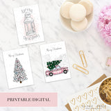 (PRINTABLE) Pastel Christmas Dashboards - VELLUM & ACETATE