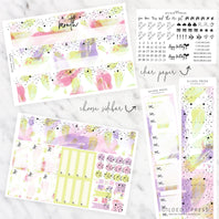 FOIL MONTHLY PLANNER STICKER KIT - WATERCOLOR SPLASH