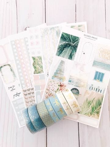 Foil Weekly Planner Sticker Kit - Tranquility
