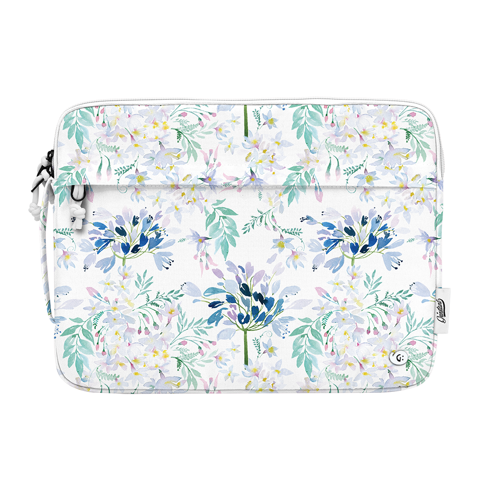 "13"" Macbook sleeve in DREAMY Blue Floral"