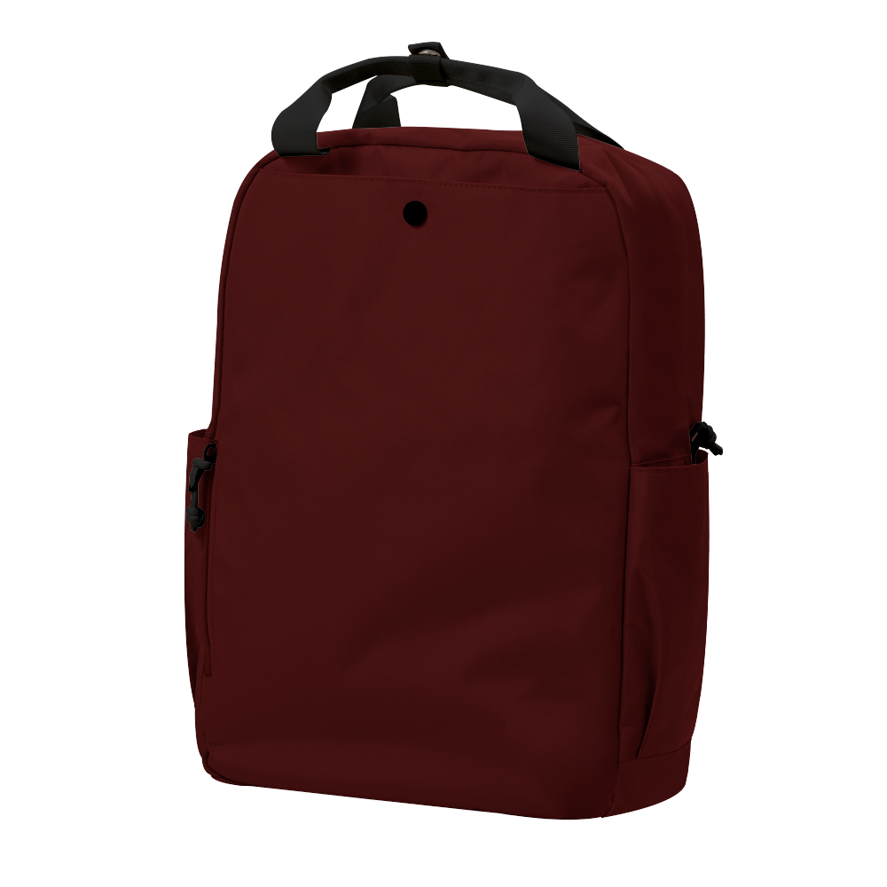 "CARA 15.6"" Backpack in ADVENTURE Dark Red with Coin Pouch"