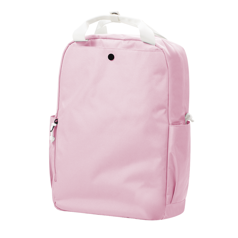 "CARA 15.6"" Backpack in DREAMY Baby Pink with Coin Pouch"