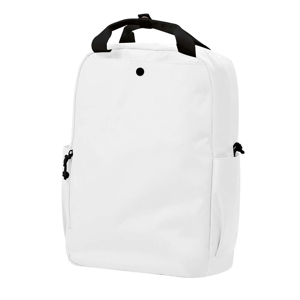 "CARA 15.6"" Backpack in MONO White with Coin Pouch"
