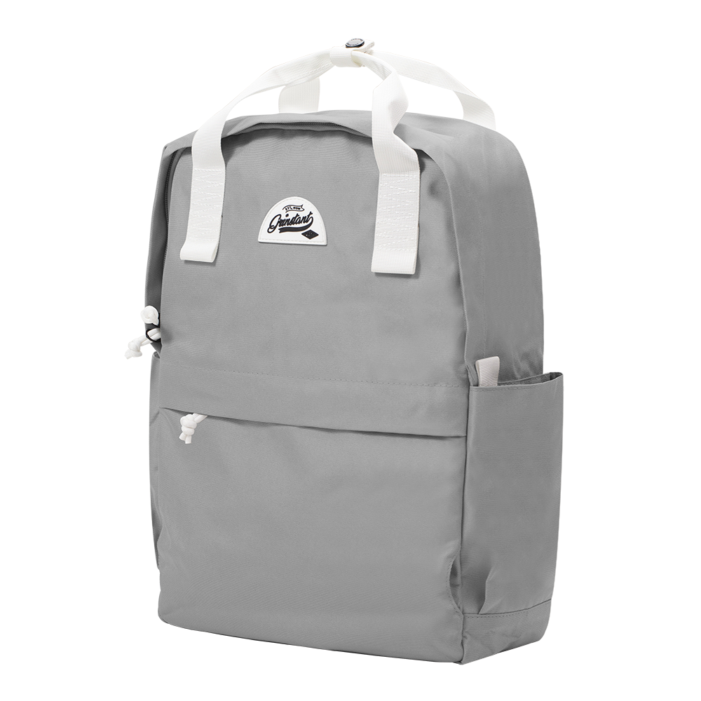 "CARA 15.6"" Backpack in DREAMY Light Grey with Coin Pouch"