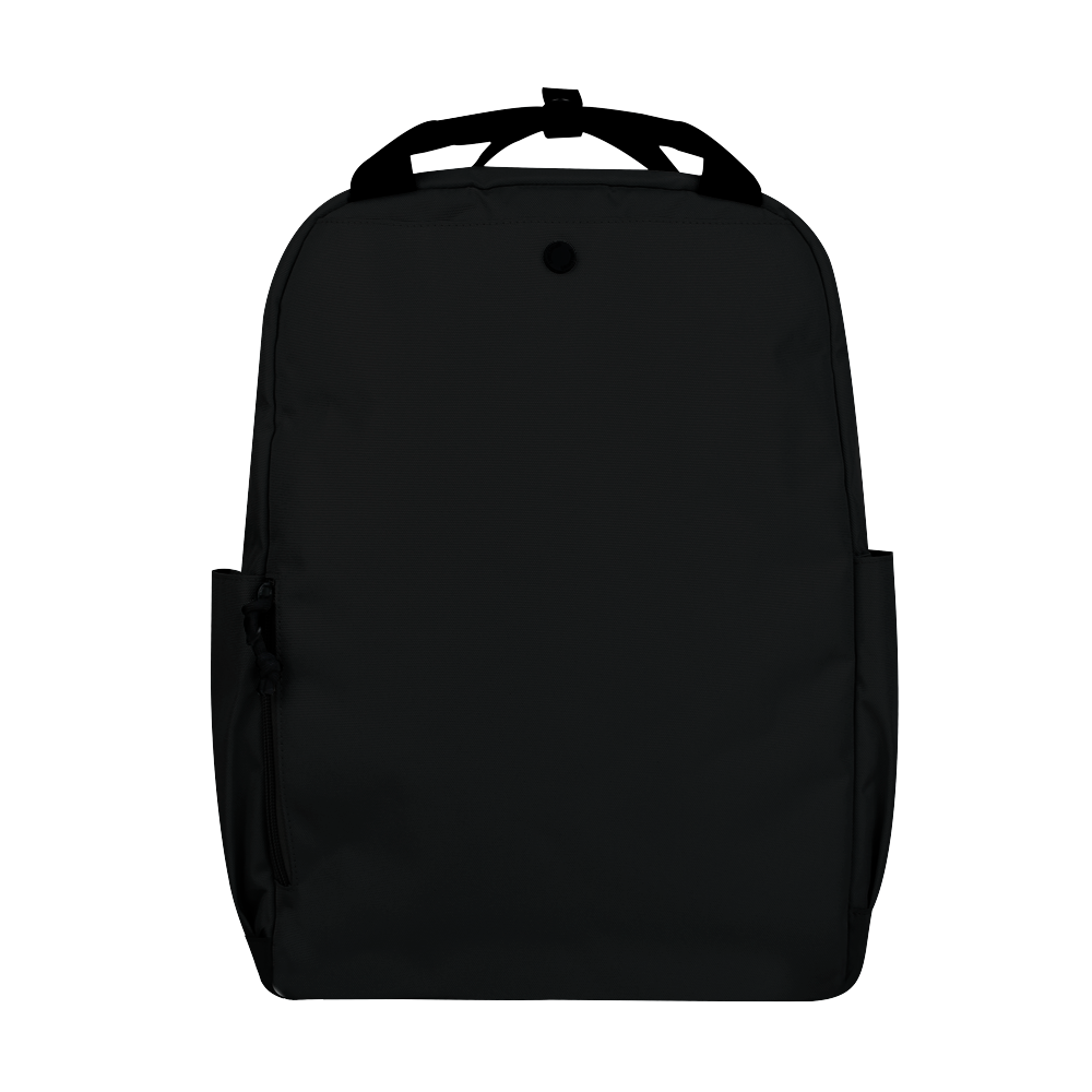 "CARA 15.6"" Backpack in MONO Black with Coin Pouch"