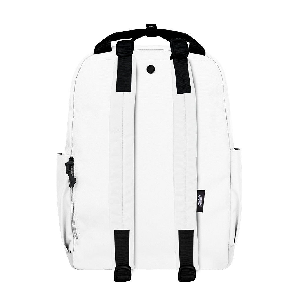 "CARA 15.6"" BACKPACK - MONO WHITE EDITION"