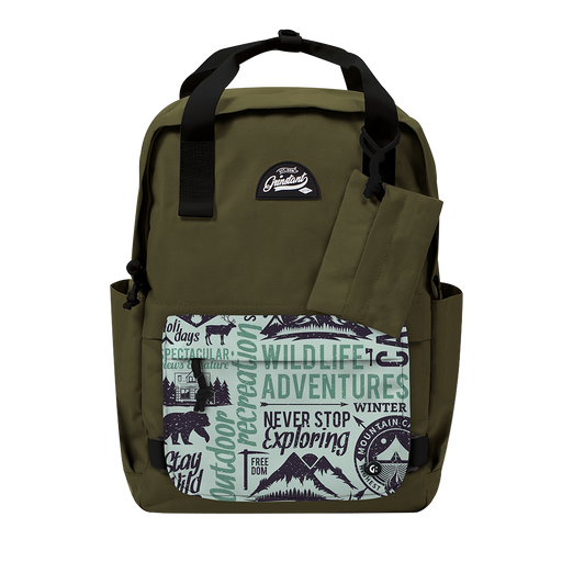 "CARA 15.6"" BACKPACK - ADVENTURE ARMY GREEN EDITION"