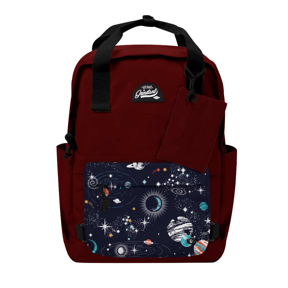"CARA 15.6"" BACKPACK - ADVENTURE DARK RED EDITION"