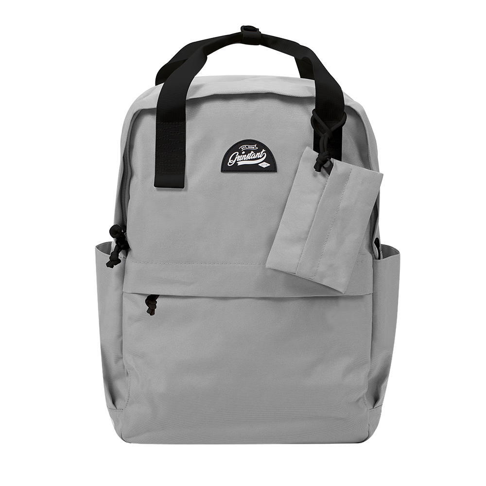 "CARA 15.6"" Backpack in MONO Grey with Coin Pouch"