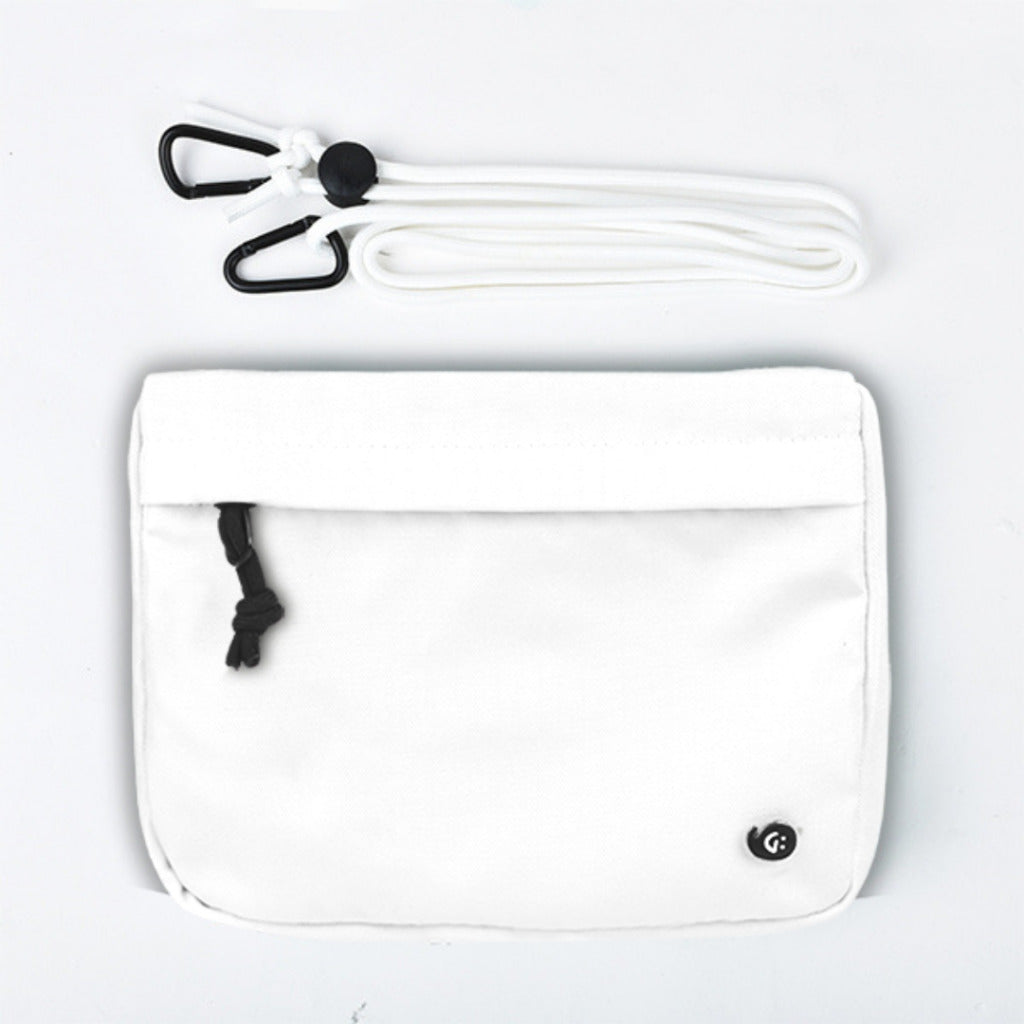 MONO White Front Pocket