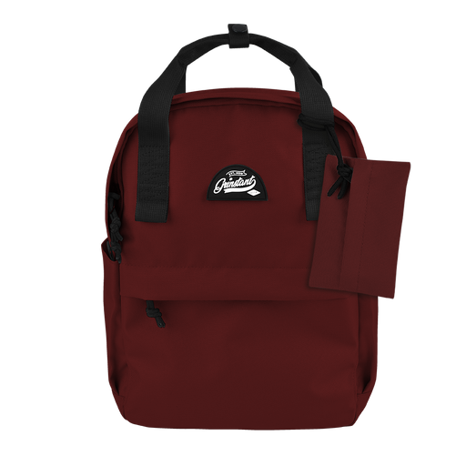 "CARA 13"" Backpack in ADVENTURE Dark Red with Coin Pouch"