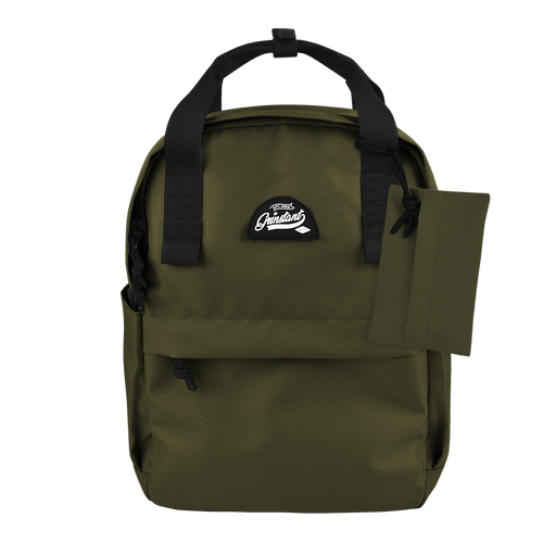 "CARA 13"" Backpack in ADVENTURE Army Green with Coin Pouch"