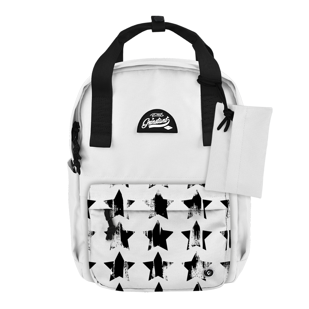 "CARA 13"" BACKPACK - MONO WHITE EDITION"