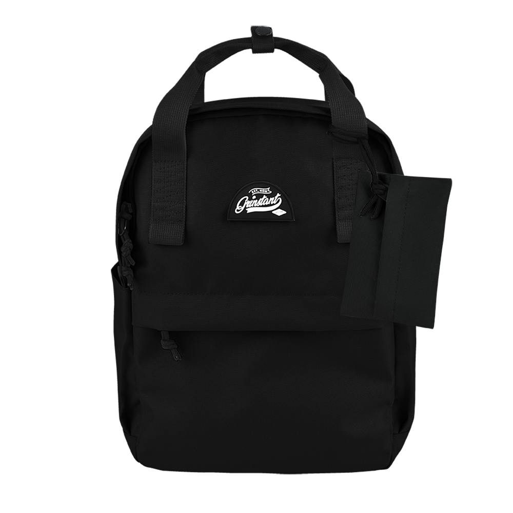 "CARA 13"" Backpack in MONO Black with Coin Pouch"