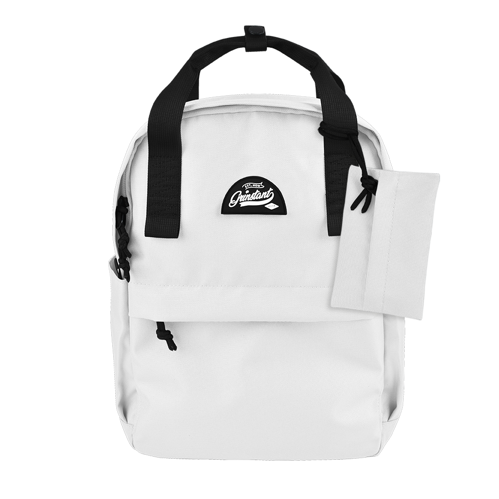 CARA Backpack in MONO White with Coin Pouch