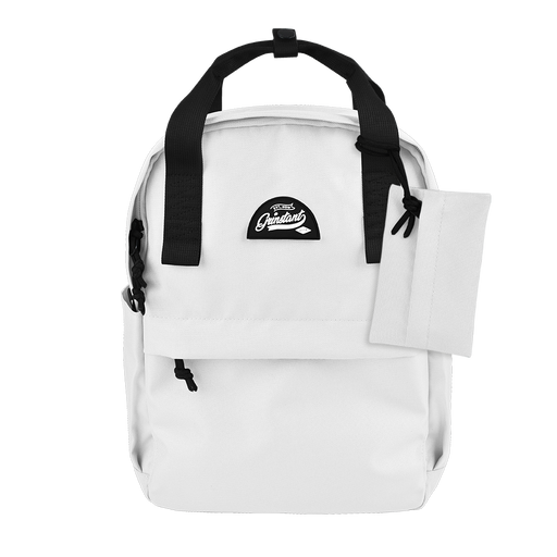 "CARA 13"" Backpack in MONO White with Coin Pouch"