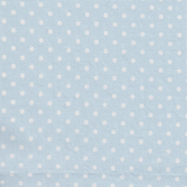 White Polka dot on Light Blue