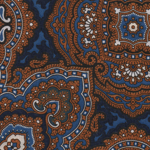 Brown and Blue Paisley