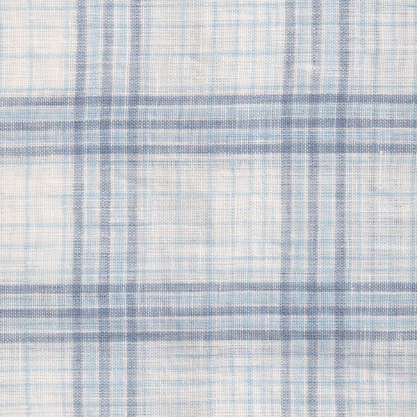 Linen Plaid - Blue and White