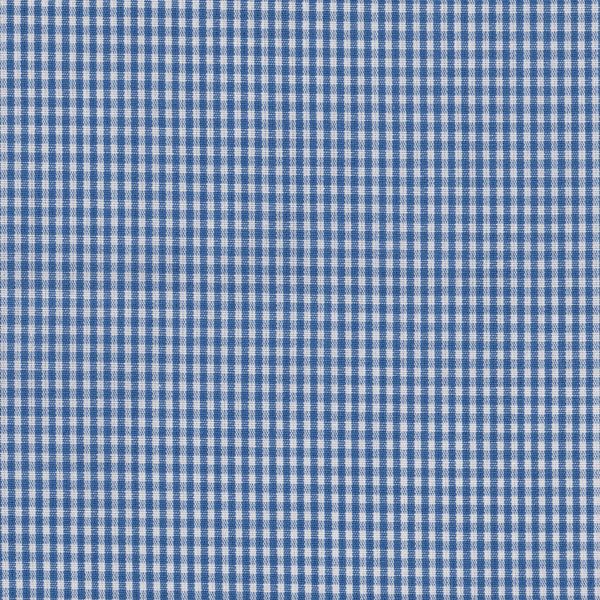 Blue mini-check Pocket Square