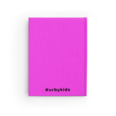 Urby Kids Journal Ponytails- Pink/Gold