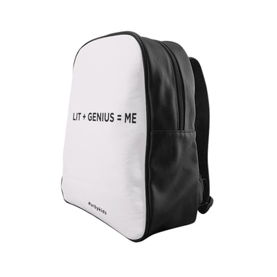 Lit + Genius = Me Backpack