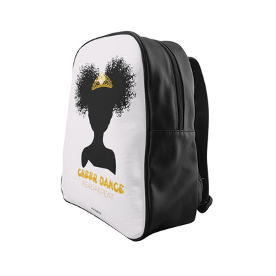 Cheer Dance Read Repeat Backpack White