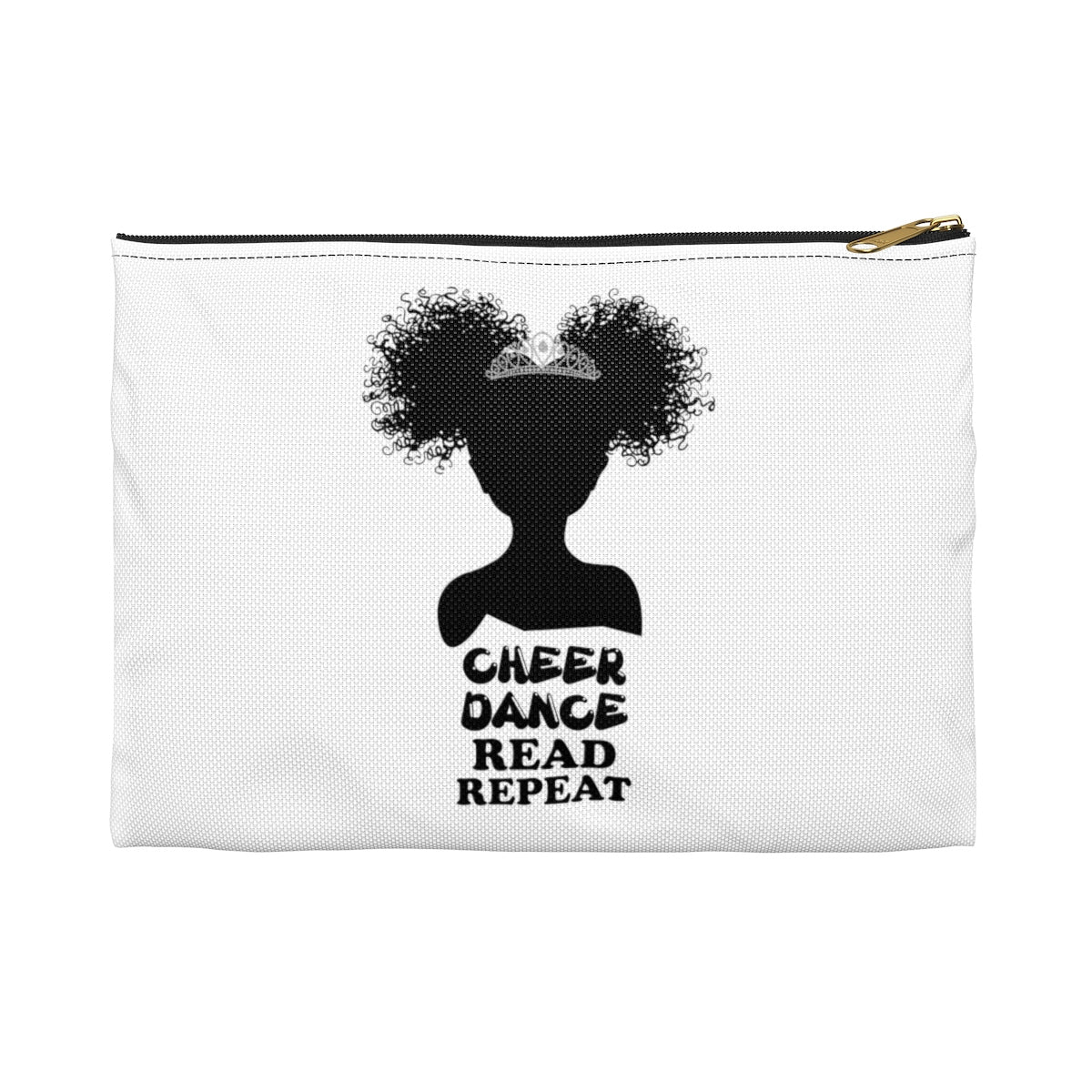 Cheer Dance Read Repeat: White Pencil Case